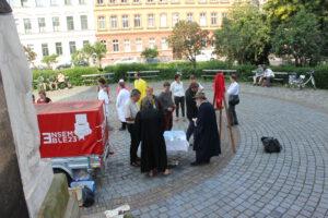 Auftakt des Ablassbrief-Verkaufs & Enthüllung des Originals vor der Peterskirche Leipzig© Julia Siebeky